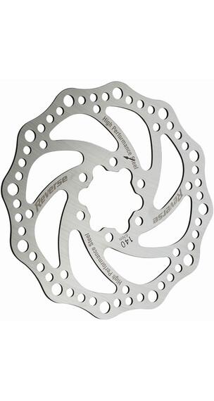 Reverse Stahl Bremsscheibe 6-Loch silber